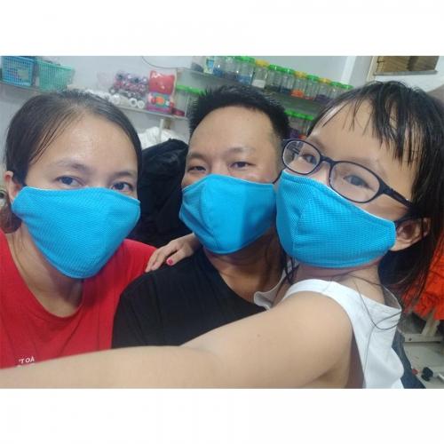 Combo 15 cái Khẩu trang vải kháng khuẩn đã được kiểm định - Màu xanh yamaha tươi trẻ