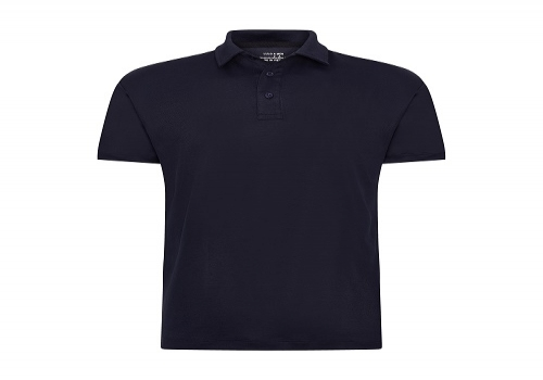 Cotton back pique fabric navy polo shirt, no pocket --- Only 1.95usd