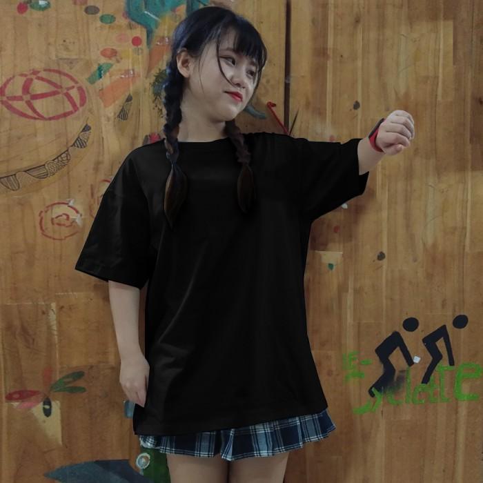 Áo thun đen unisex lulo 100% cotton dày, form rộng, oversize, mịn và đẹp