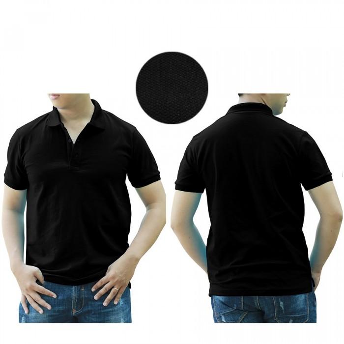 1H black polo shirt