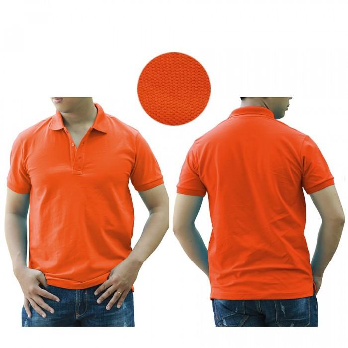 1H orange polo shirt