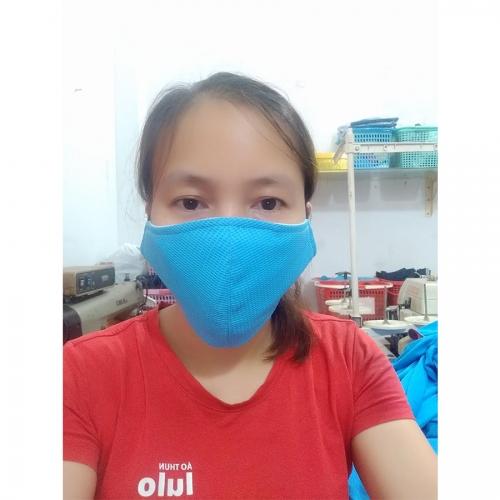 Combo 5 cái Khẩu trang vải kháng khuẩn đã được kiểm định - Màu xanh yamaha tươi trẻ