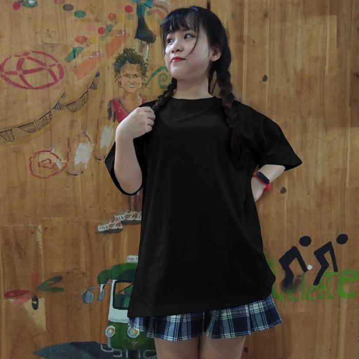 Black unisex tee lulo 100% cotton, big size, oversize, soft and nice - 2