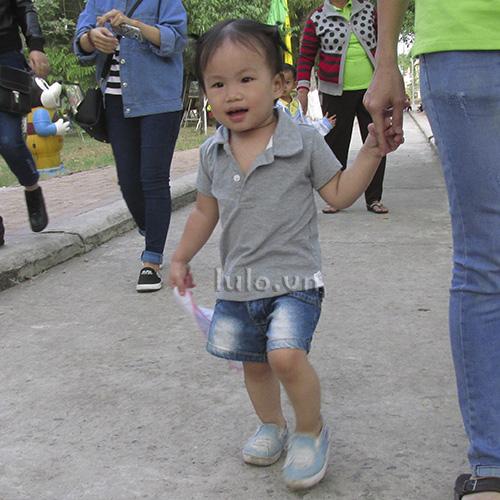 Polo shirt for children - Grey melange