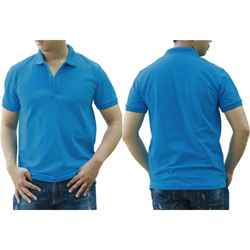 Polo shirt with pocket - Air blue