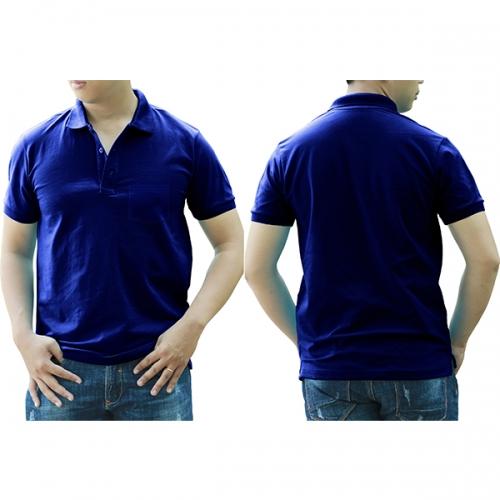 Polo shirt with pocket - Blue