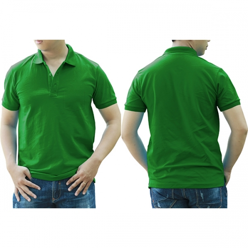 Polo shirt with pocket - Parrot green