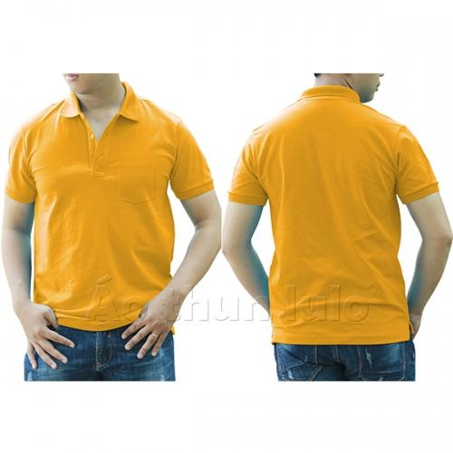 Polo shirt with pocket - Dark yellow