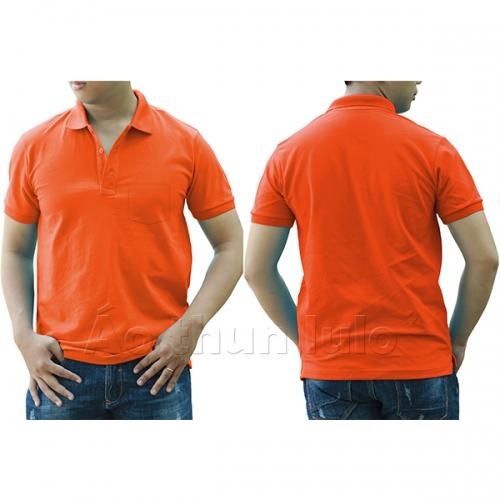 Polo shirt with pocket - Dark orange