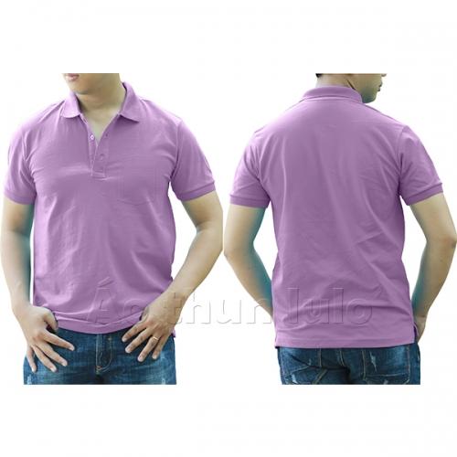 Polo shirt with pocket - Purple