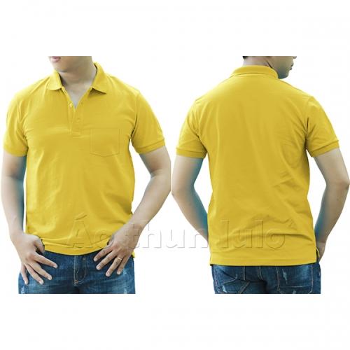 Polo shirt with pocket - Lemon yellow