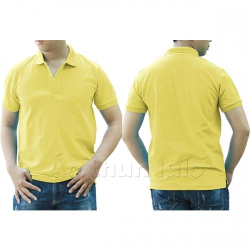 Polo shirt with pocket - Light Yellow