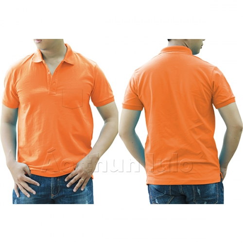 Polo shirt with pocket - Orange