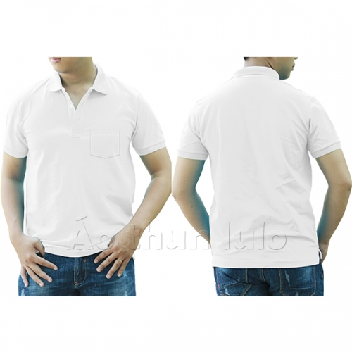 Polo shirt with pocket - Black