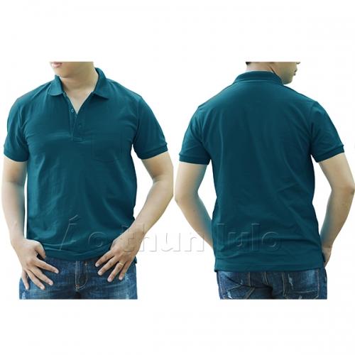 Polo shirt with pocket - Cobalt