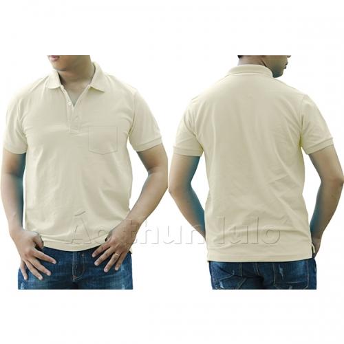 Polo shirt with pocket - Cream