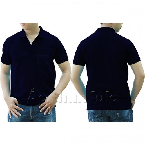 Polo shirt with pocket - Navi blue
