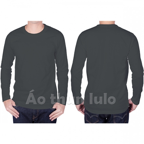 Long sleeves t-shirt with - Dark grey