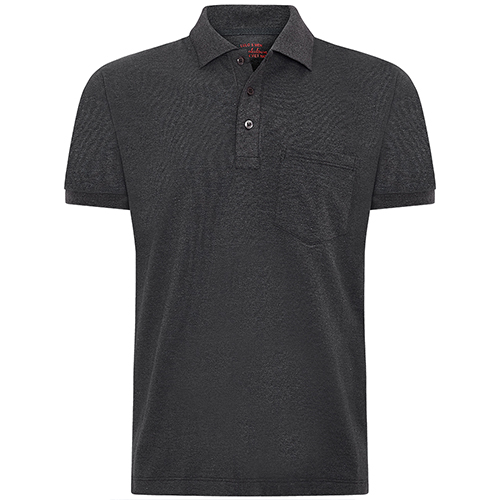 Amazon USA exporting dark grey pocket polo shirt